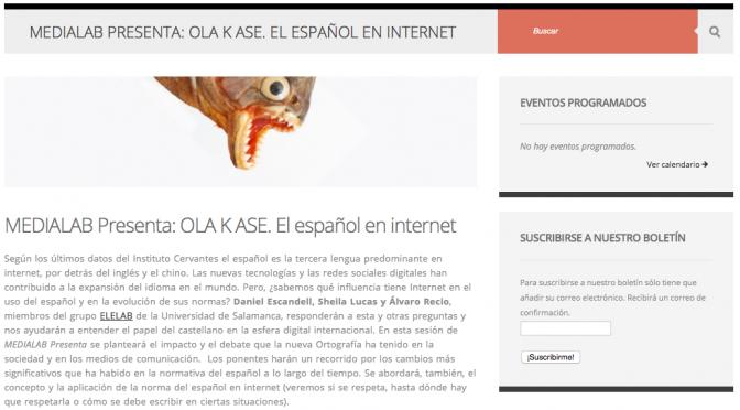 OLA K ASE. El español en internet