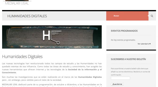 Ciclo de Humanidades Digitales en la Universidad de Salamanca: última sesión
