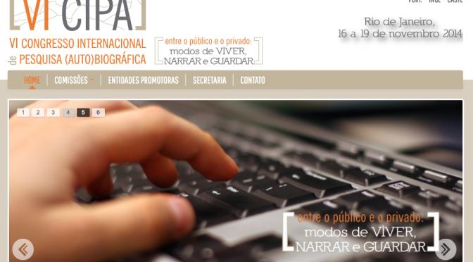 VI Congresso Internacional de Pesquisa (Auto)biográfica