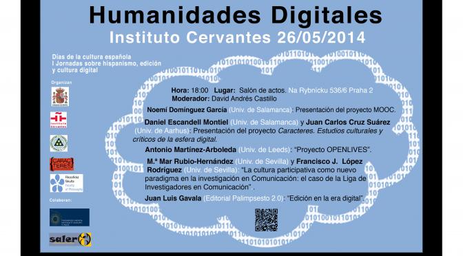 I Jornadas sobre hispanismo, edición y cultura digital