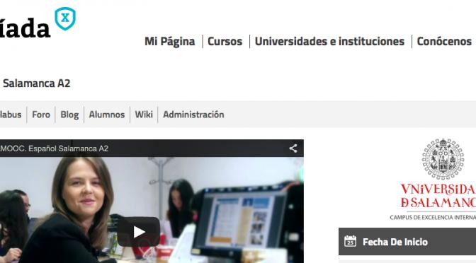 Segunda edición del MOOC Español Salamanca A2
