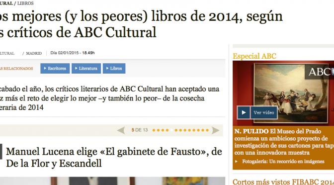 Lo mejor y lo peor de 2014 de ABC Cultural ya en la web