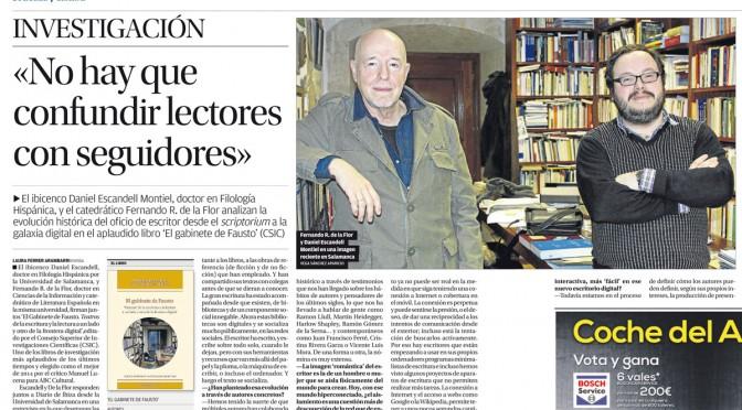 El gabinete de Fausto: entrevista en Diario de Ibiza