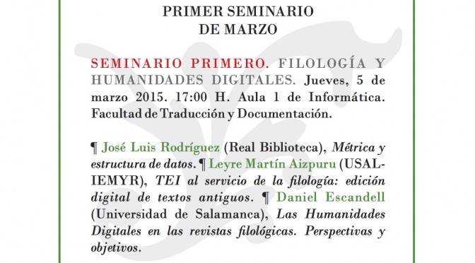 SEMYR - Primer seminario de marzo