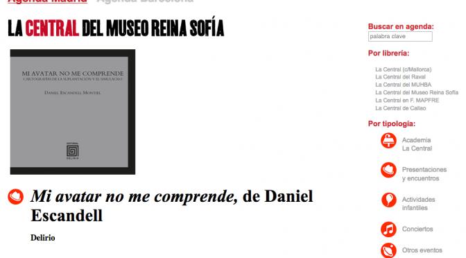 Presentación de Mi avatar no me comprende en La Central del Museo Reina Sofía