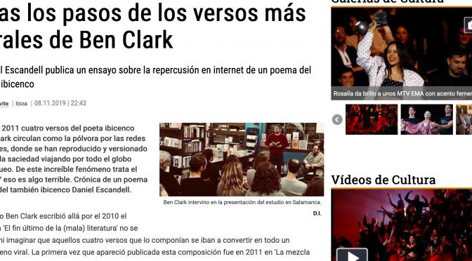 El poema viral en El Diario de Ibiza